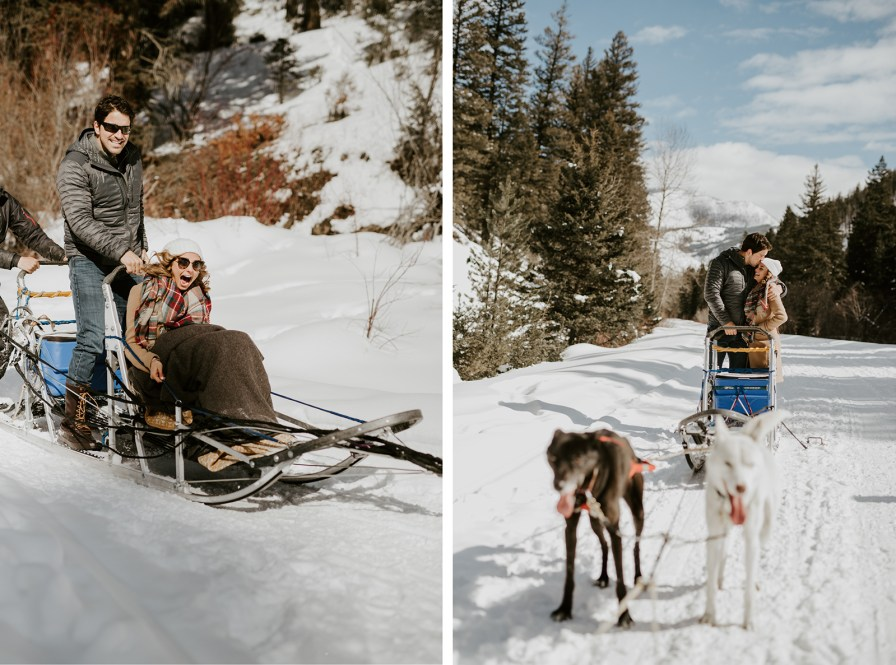 dogsledding wedding