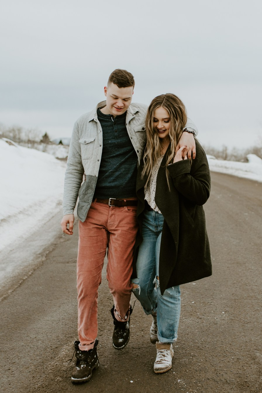 winter engagement outfit