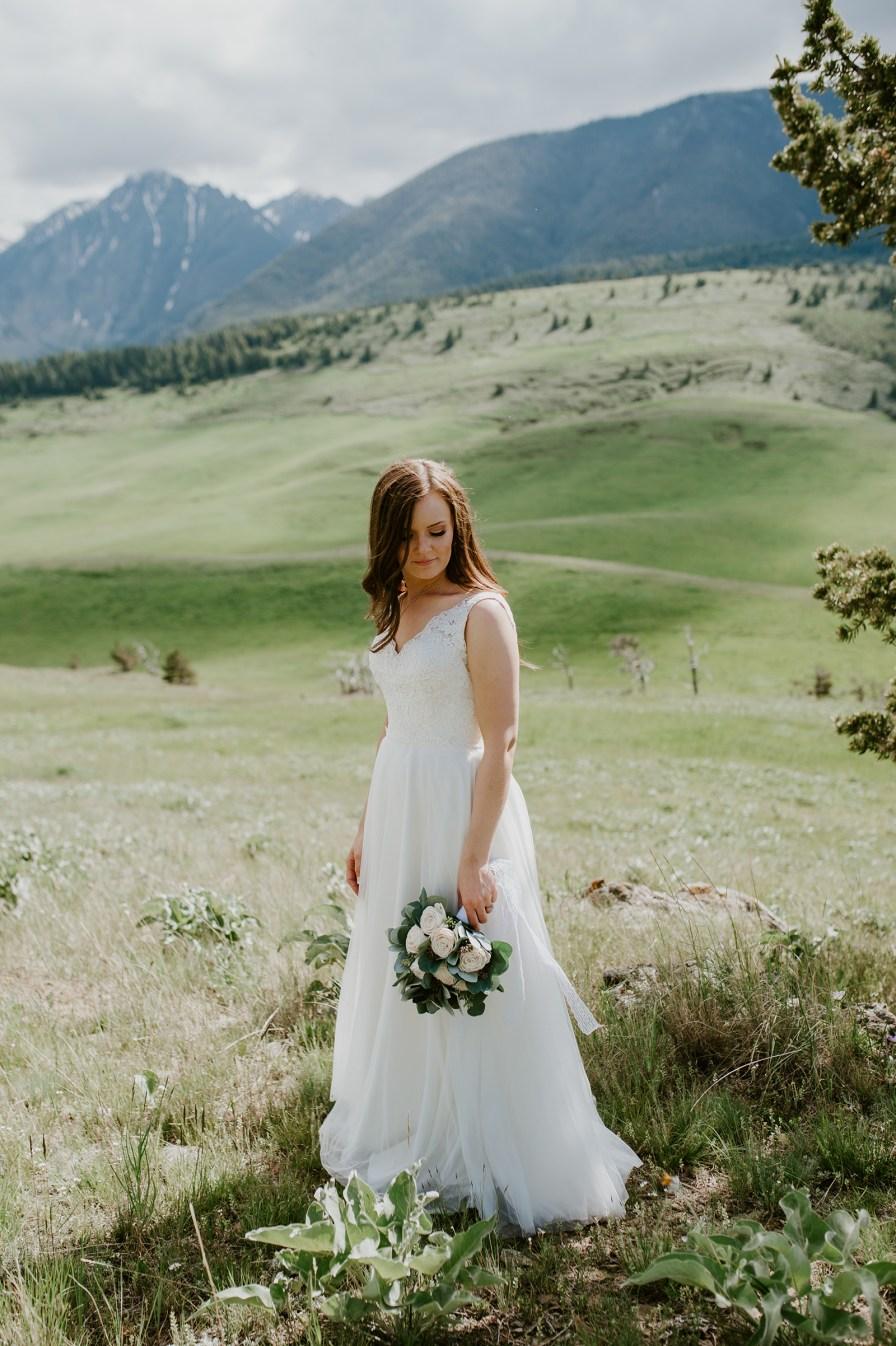 intimate Livingston Montana wedding