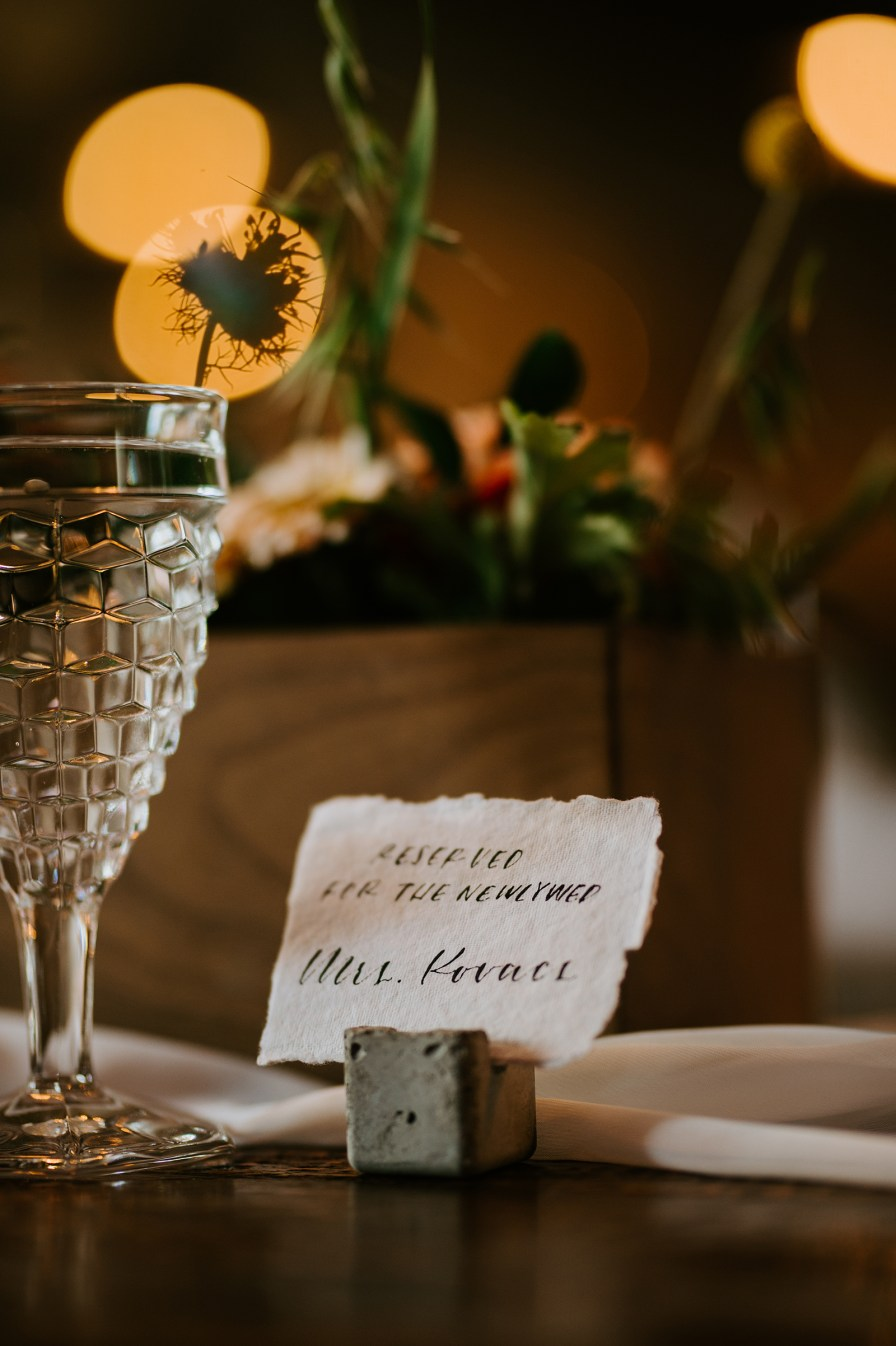 small wedding place cards