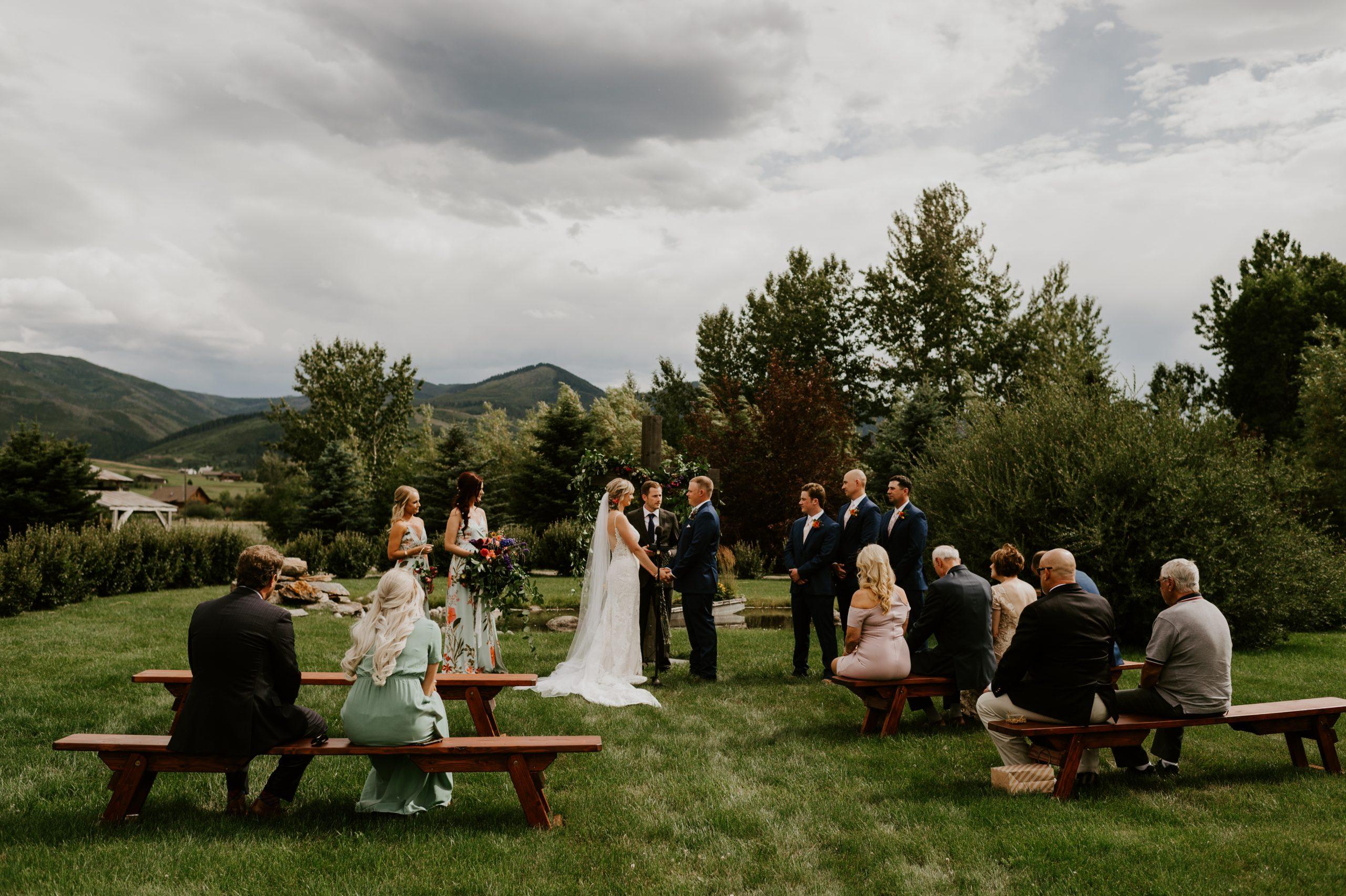 Bozeman intimate wedding
