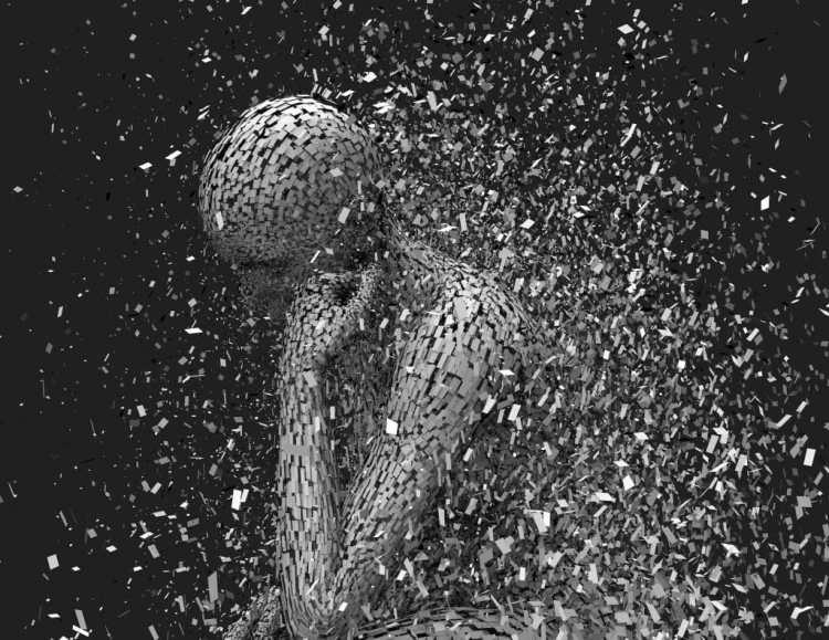 douleur fatalite statue homme madinlove