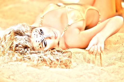 horoscope lion femme blonde visage felin tigre sexy chat astro madinlove