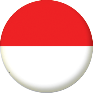 Indonesia Country Flag 25mm Pin Button Badge