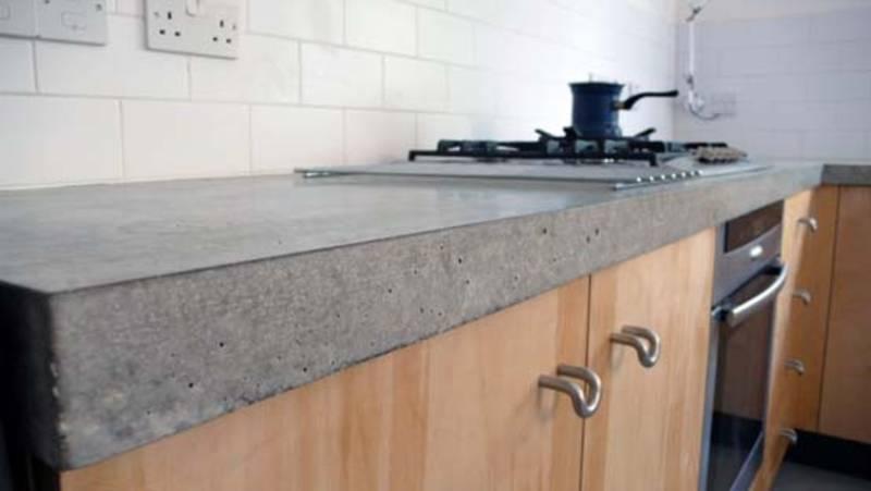 Concrete worktop work space pinterest
