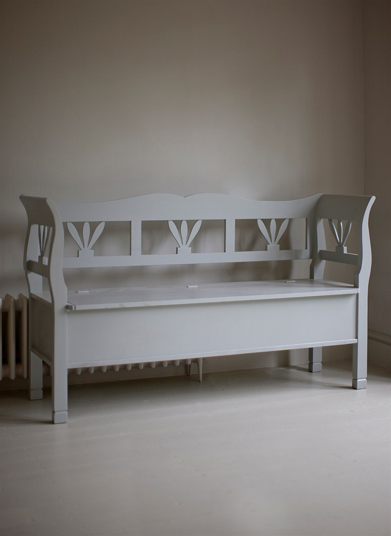 Objects Of Design 326 Hungarian Storage Settle Bench