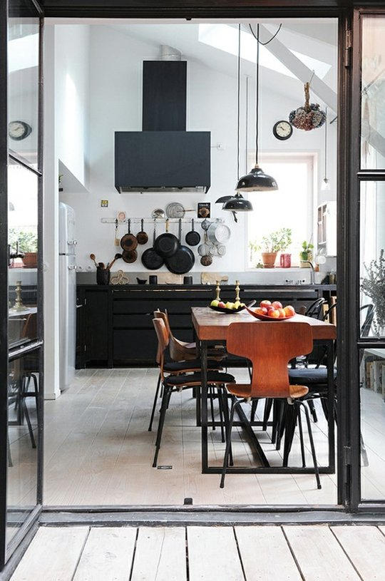 industrial kitchen from from apartmenttherapy.com
