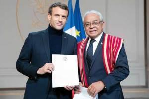 L' Ambassadeur de Madagascar, Rija Olivier Hugues Rajohnson a remis sa lettre de créance à Emmanuel Macron