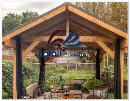 مظلات حدائق خشبية