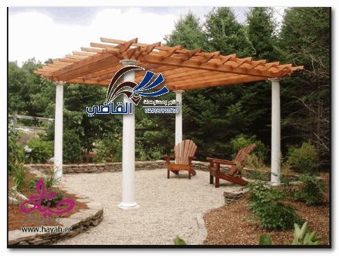 مظلاتحدائق خشبية
