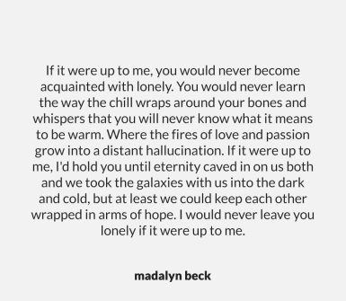 Lonely by Madalyn Beck