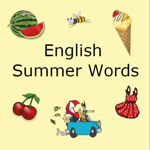 Summer words