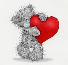 petit ours avec un coeur