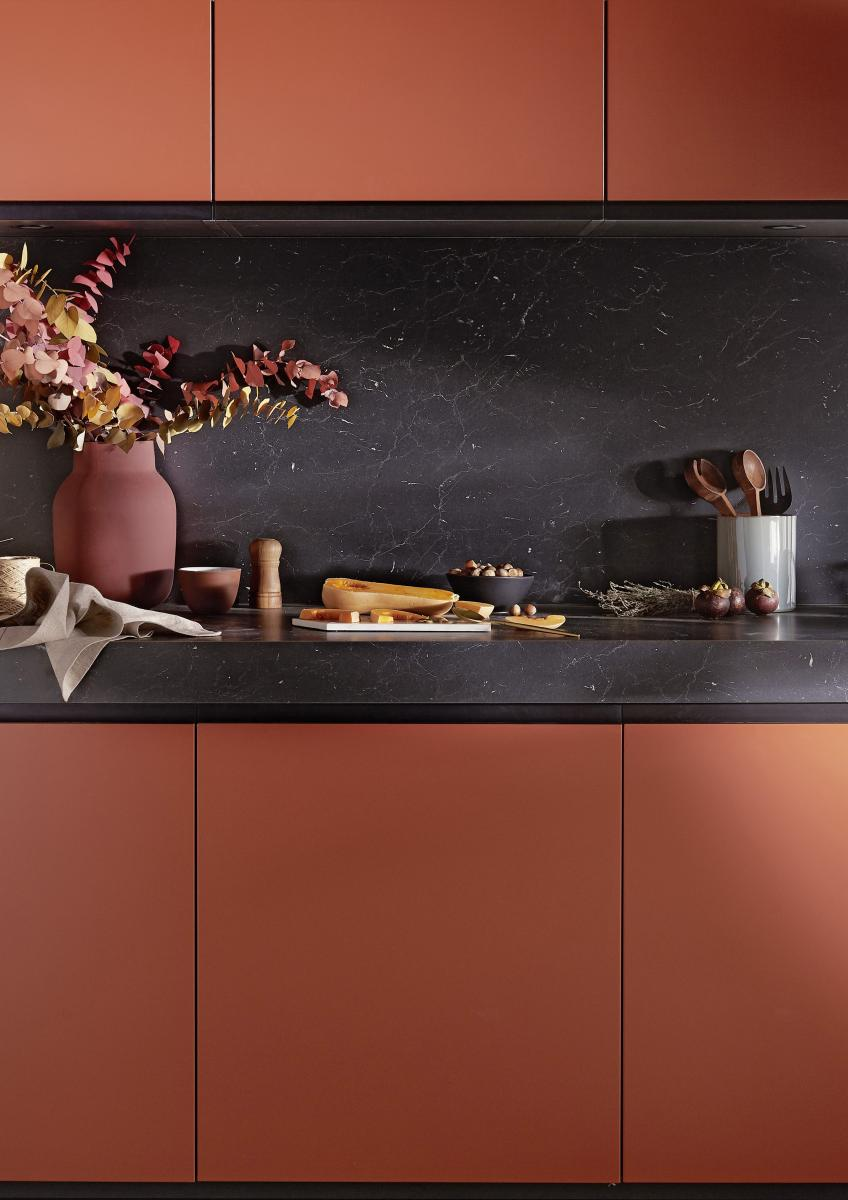 je veux une cuisine couleur terracotta