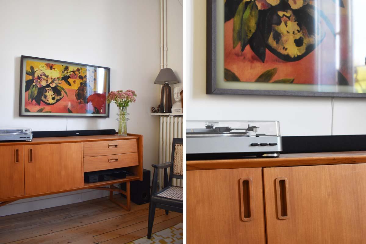 mon nouvel espace tv vintage et cosy