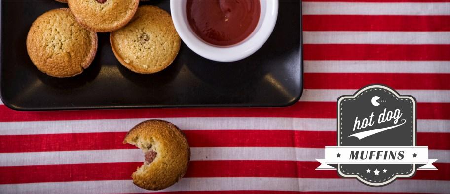 Αλμυρά muffins σαν Hot Dogs