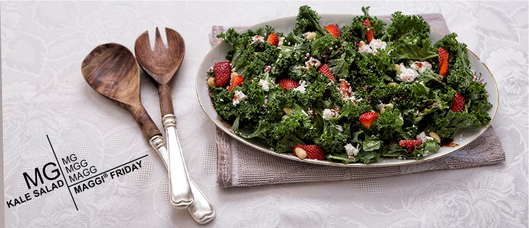Σαλάτα Kale με φράουλες & ανθότυρο! It's MAGGI Friday!