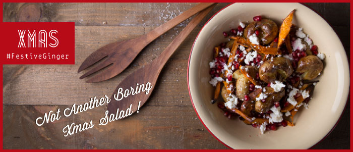 Χριστουγεννιάτικη σαλάτα με πατάτες, φέτα & ρόδι