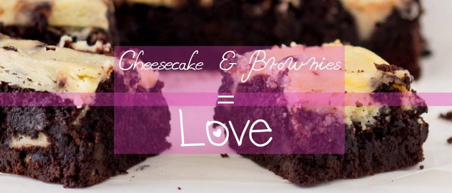 Brownies με κρέμα Cheesecake και σος καραμέλας βουτύρου