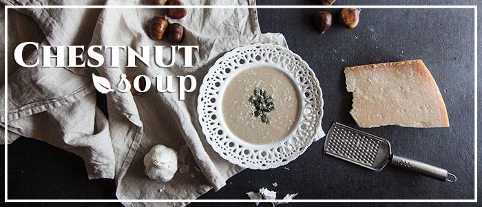 Σούπα κάστανο βελουτέ με σελινόριζα!