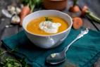 Σούπα βελουτέ καρότο με καπνιστή πάπρικα