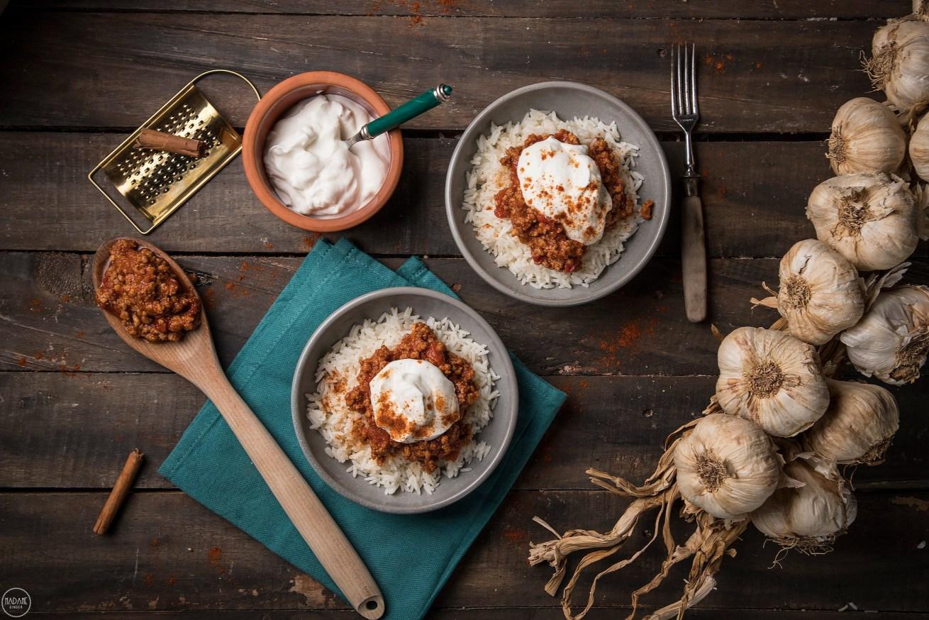 Ρύζι με κιμά και γιαούρτι, για τις μέρες που όλα πάνε στραβά