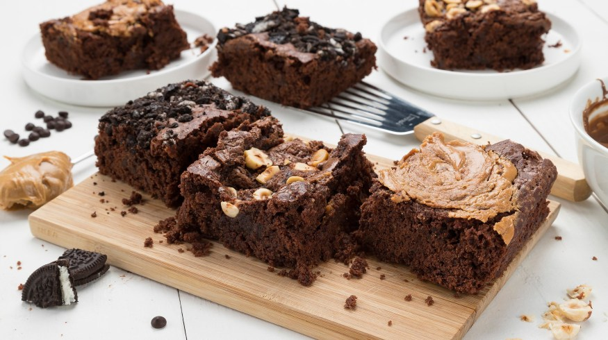 Vegan Brownies σοκολάτας σε 3 φανταστικές γεύσεις (VIDEO)