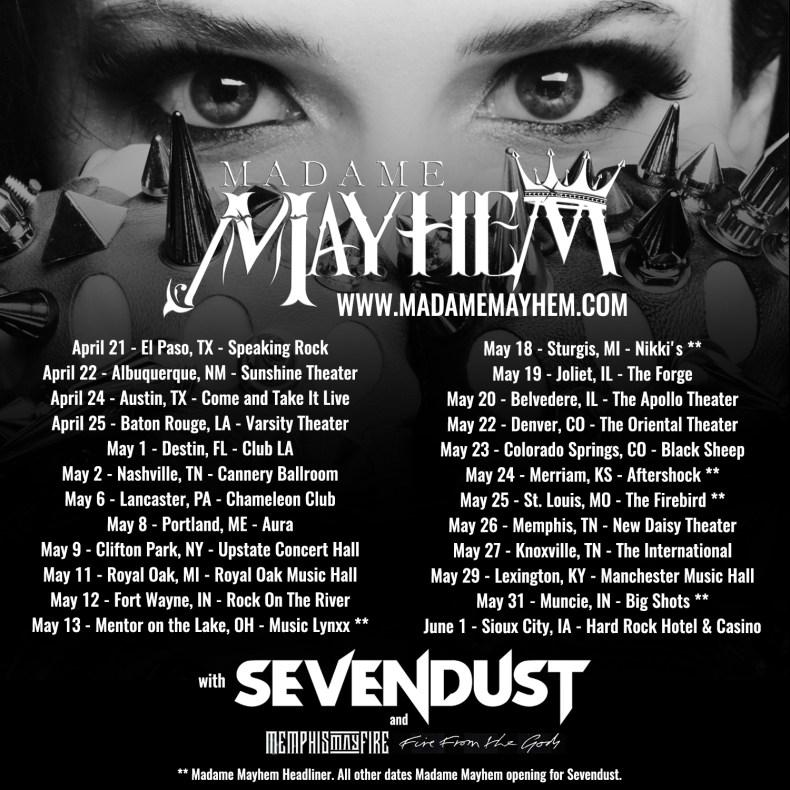 Madame Mayhem Discusses New Album And Upcoming Sevendust