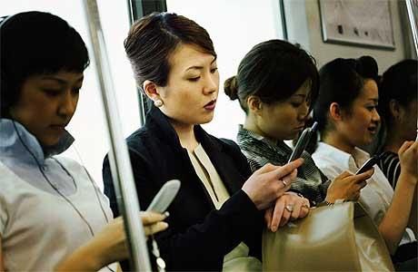 日本人と携帯メール
