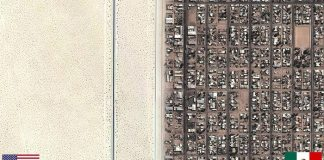 国の違いが一目瞭然!世界の面白い国境線の画像あれこれ