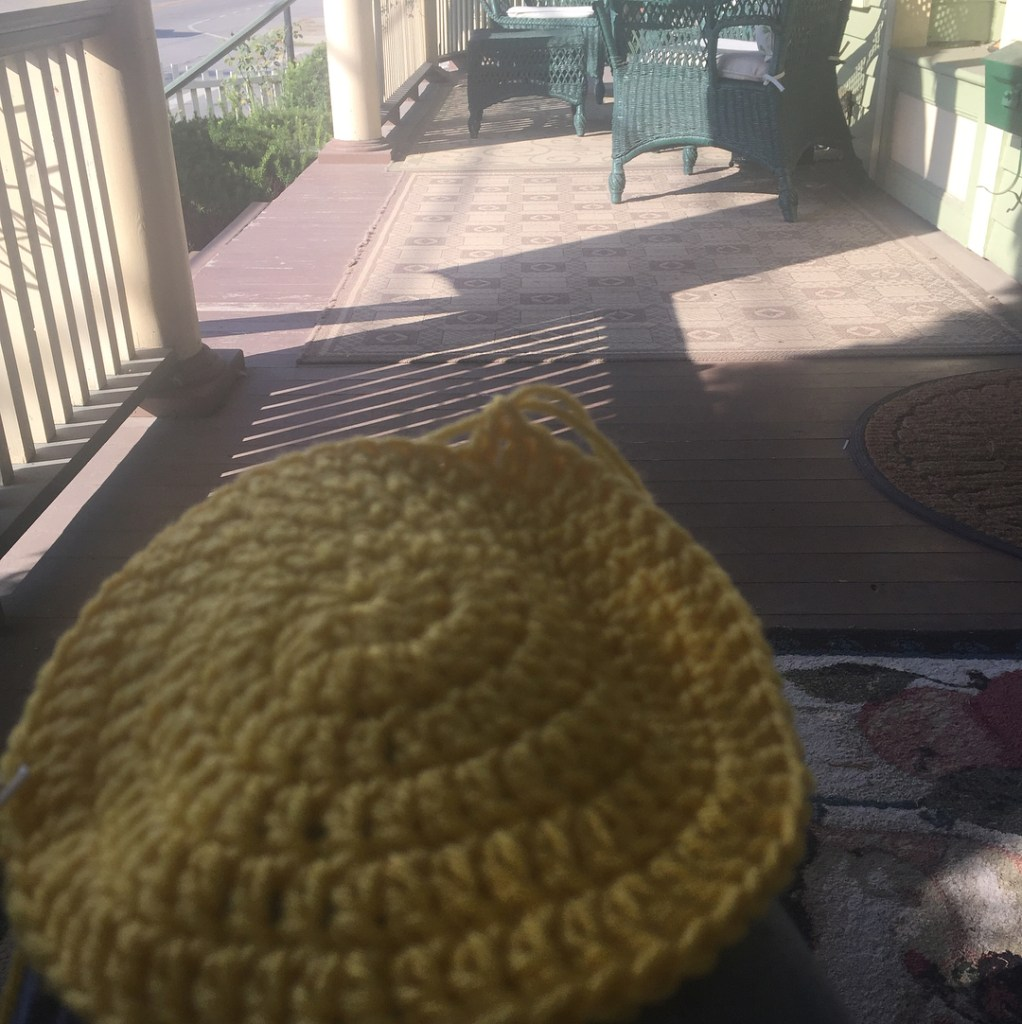 What a perfect morning to crochet! No trip to Senecahellip