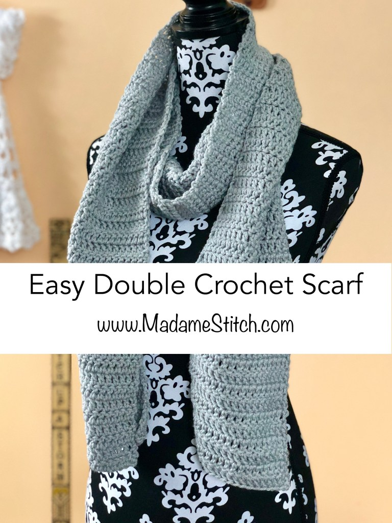Easy Double Crochet Scarf Pattern | MadameStitch