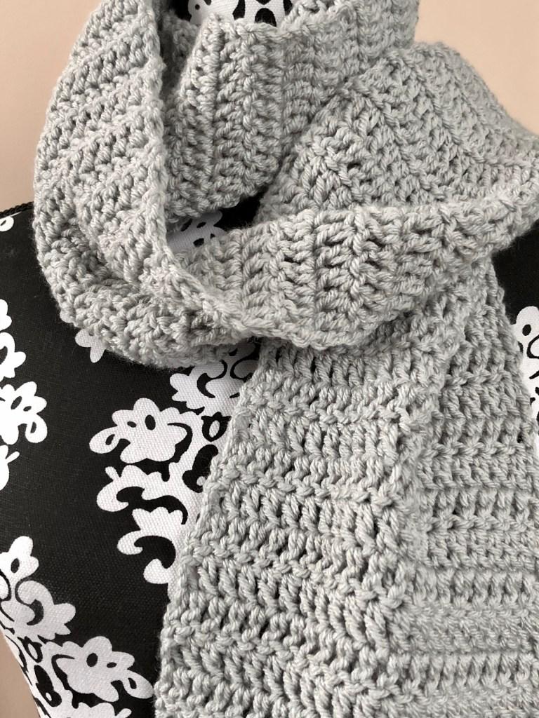 Easy Double Crochet Scarf Pattern | MadameStitch