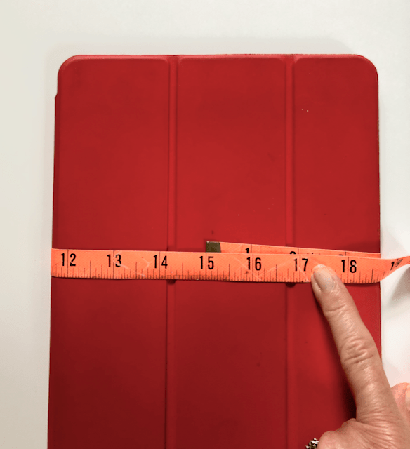 How to measure the tablet width