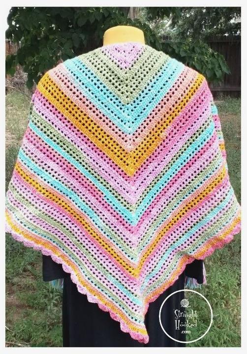 Friendship Prayer Shawl crochet pattern by Straight Hooked
