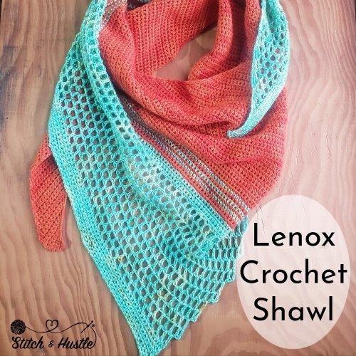 Lenox Shawl crochet pattern by Stitch & Hustle