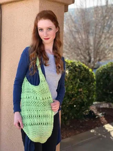 March Market bag crochet pattern