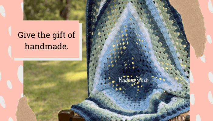 Bits and Bobs Baby Blanket Crochet Pattern by MadameStitch