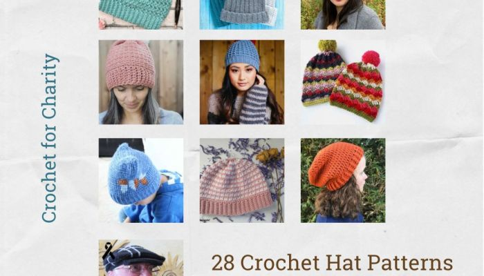 28 Crochet hat patterns perfect for charity donation | blog post by MadameStitch