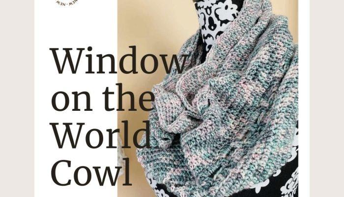 Window on the World Cowl crochet pattern | A design by MadameStitch