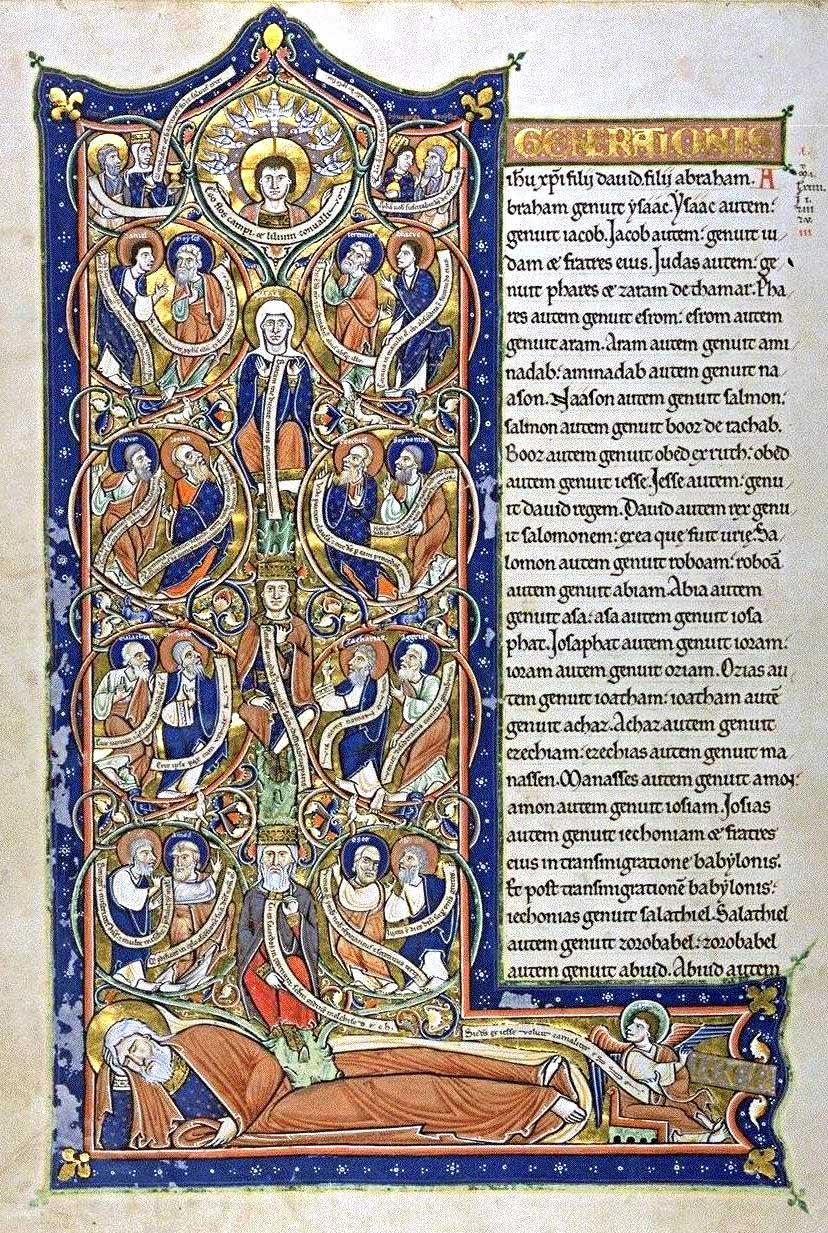 Stanza 2 Tree Of Jesse Bn Latin 16746
