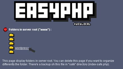 Clic para ver la imagen - EasyPHP