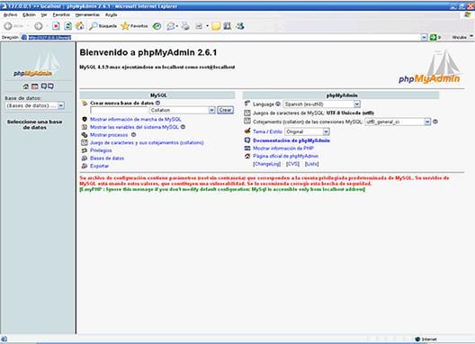 Clic para ver la imagen - PHPMyAdmin