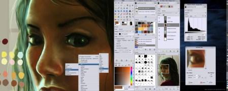 Utilización de GIMP en Linux aprovechando la característica de pantallas dobles