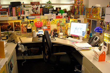 My cubicle, updated by Royal Sapien