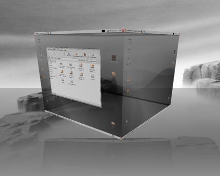 Ubuntu 7.04 corriendo con Compiz Fusion. No amigable?