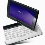 Desempacando un IdeaPad S10-3t  y mostrando su pantalla multitouch