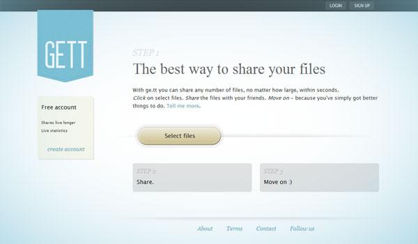 Ge.tt: Excelente aplicación web para compartir archivos