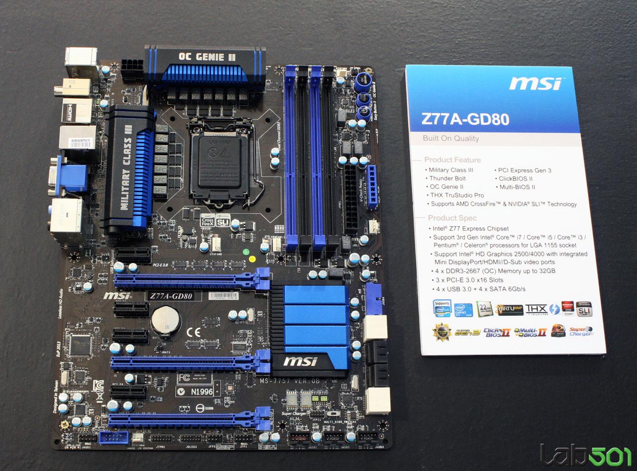 Download Drivers: MSI Z77A-GD80 THX TruStudio PRO