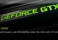 Especificaciones de la GeForce GTX 660 OEM